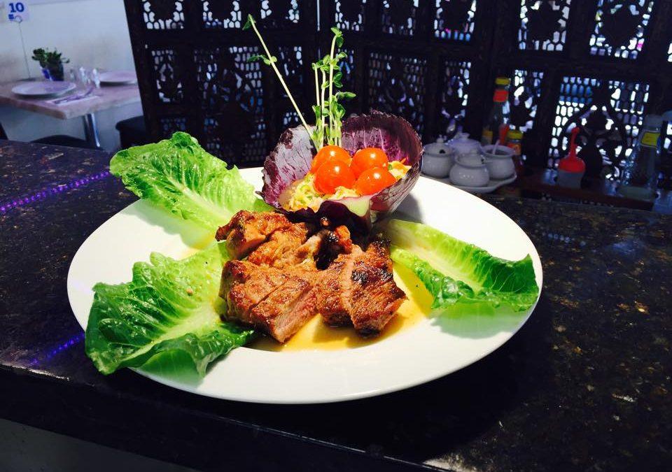 Grilled Pork & Cucumber salad