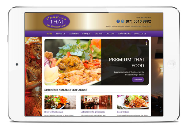 Delicious Online Presence for House of Siam on the Boardwalk