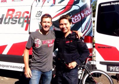 with Troy Bayliss